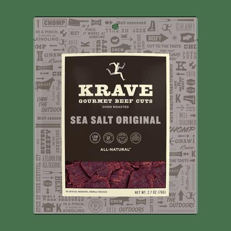 Curing Salt Jerky - Krave, Beef Jerky Sea Salt Original, 2.7 Oz