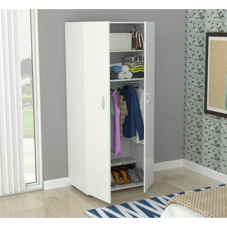 Inval Contemporary Laricina-white Two Door - Mirrored Armoire Wardrobe