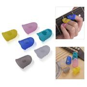 6pcs Guitar Silicone Finger Fingertip Protectors for Guitar Ukulele Beginners (Random Color Delivery)