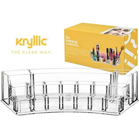 Acrylic Lipstick Makeup Nailpolish Organizer - Multi compartment lip gloss brush perfume palette accessories vanity storage organizers! Cosmetic countertop make up display box for girls lipglosses