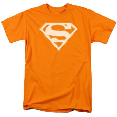 Superman - Orange & White Shield - Short Sleeve Shirt -