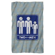 Two And A Half Men Men Fleece Blanket White One Size