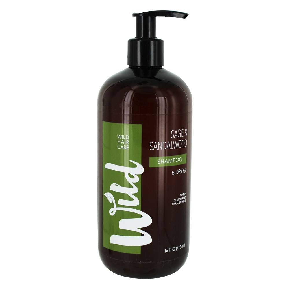 Wild - Shampoo for Dry Hair Sage & Sandalwood - 16 fl. oz