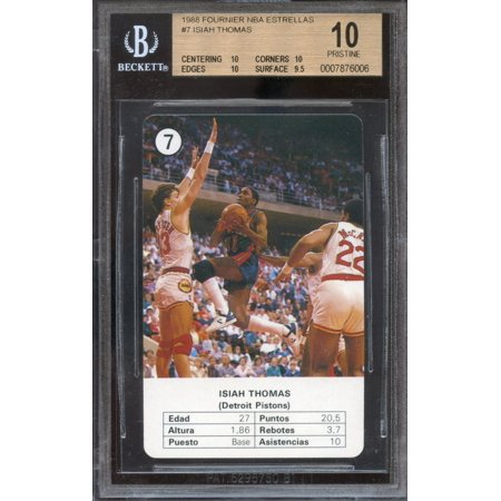 1988 founier nba estrellas #7 ISIAH THOMAS detroit pistons BGS 10 pristine pop 1