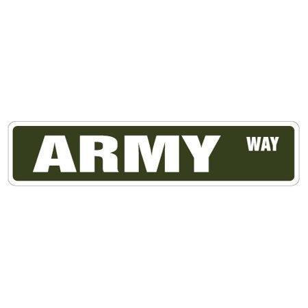 - Army Street [3 Pack] of Vinyl Decal Stickers | Indoor/Outdoor | Funny decoration for Laptop, Car, Garage , Bedroom, Offices | SignMission
