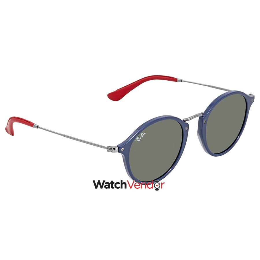 57129066d2 Ray Ban Scuderia Ferrari Green Classic G-15 Round Sunglasses RB2447NM  F60631 49
