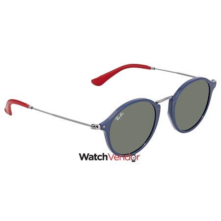 0e86caff4d Ray Ban Scuderia Ferrari Green Classic G-15 Round Sunglasses RB2447NM  F60631 49 - image ...