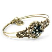 Sweet Romance  Bead Flower Boho Beach Bangle Bracelet