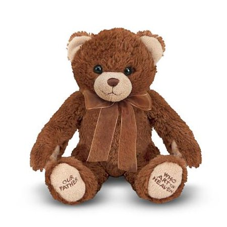 Melissa & Doug Lord's Prayer Bear - Stuffed Animal With Sound Effects - Prayer Bear