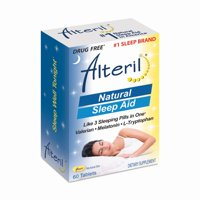 Alteril Natural Sleep Aid Valerian, Melatonin, & L-Tryptophan Tablets, 60 Ct