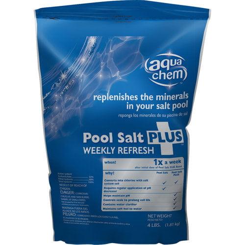 Biolab 05791AQU Pool Salt Plus Refresh, 4 Lbs