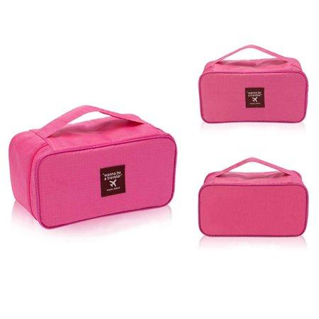 - JOYFEL Pink Underwear Bra Bag Cosmetic Makeup Kits Tools Storage Case Travel Storage Bag for Women /Men