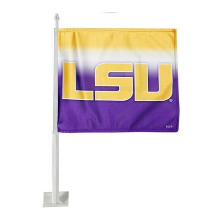 Ncaa Door Flag - NCAA LSU Tigers Ombre Car Flag