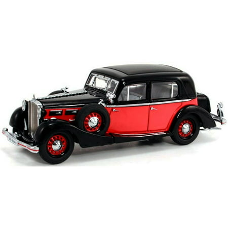 1935 Ship (1935 Maybach SW35 Spohn , Black & Red - Signature Models 43702 - 1/43 Scale Diecast Model Toy)