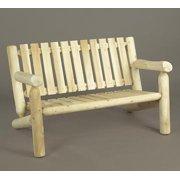 "48"" Natural Cedar Log Style Outdoor Wooden Bench"
