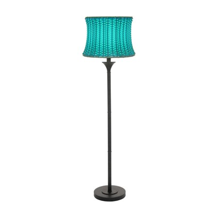 River of Goods Outdoor Basketweave Floor Lamp ()