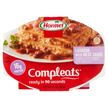 (6 Pack) Hormel Compleats Lasagna with Meat Sauce, 10 Ounce](Halloween Themed Meals)