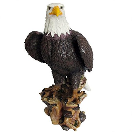 Rustic Bald Eagle Statue in American Patriotic Decor, Bird Sculptures, Large Figurines and 4th of July Gifts by Home-n-Gifts American Bald Eagle Figurine
