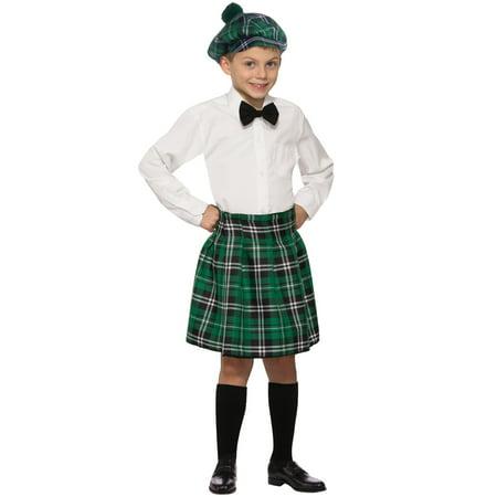 Laddie's Kilt Child Size Costume Accessory Irish Green Plaid St. Patrick's Day - image 1 de 1