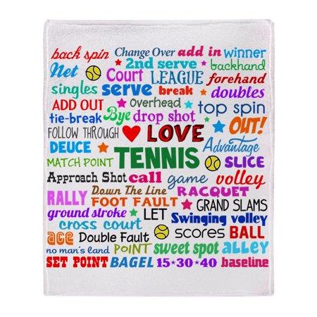 "CafePress - Tennis Terms - Soft Fleece Throw Blanket, 50""x60"" Stadium Blanket"