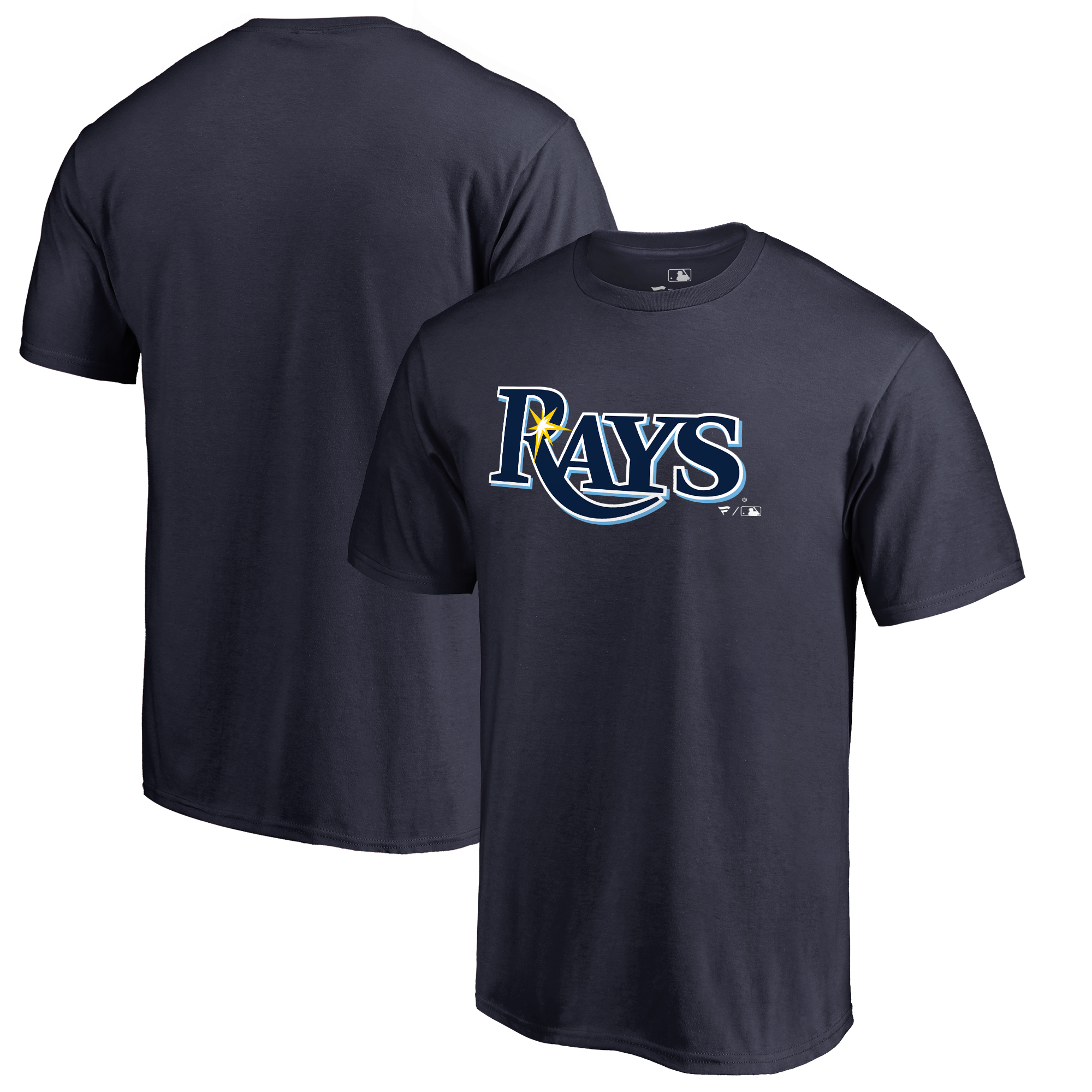 Tampa Bay Rays Fanatics Branded Big & Tall Team Wordmark T-Shirt - Navy
