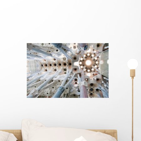 Details Interior Sagrada Familia Wall Mural by Wallmonkeys Peel and Stick Graphic (18 in W x 12 in H) WM280466