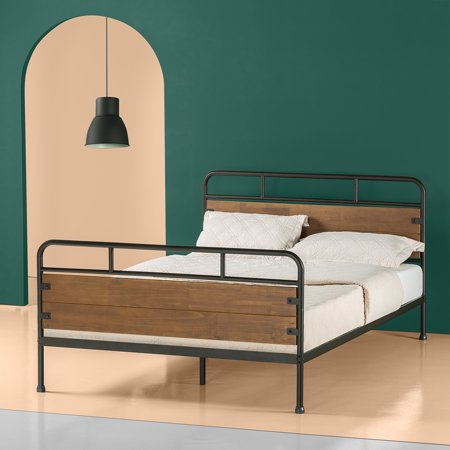 Zinus Eli Wood And Metal 12 Quot Platform Bed Frame With