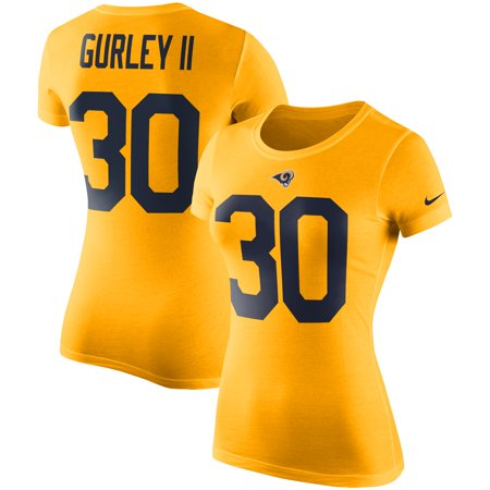 reputable site 87766 cd1c1 Todd Gurley II Los Angeles Rams Nike Women's Color Rush 2.0 Name & Number  Performance T-Shirt - Gold