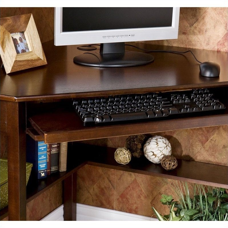 "Southern Enterprises Corner Computer Desk 48"" Wide, Espresso Finish - image 1 de 8"