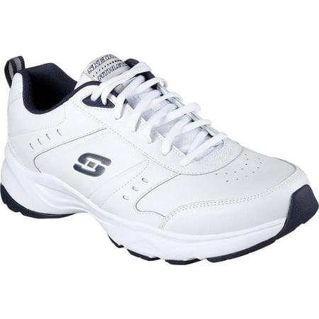 Skechers Men's Haniger Training Sneaker,White/Navy,US 8.5 M