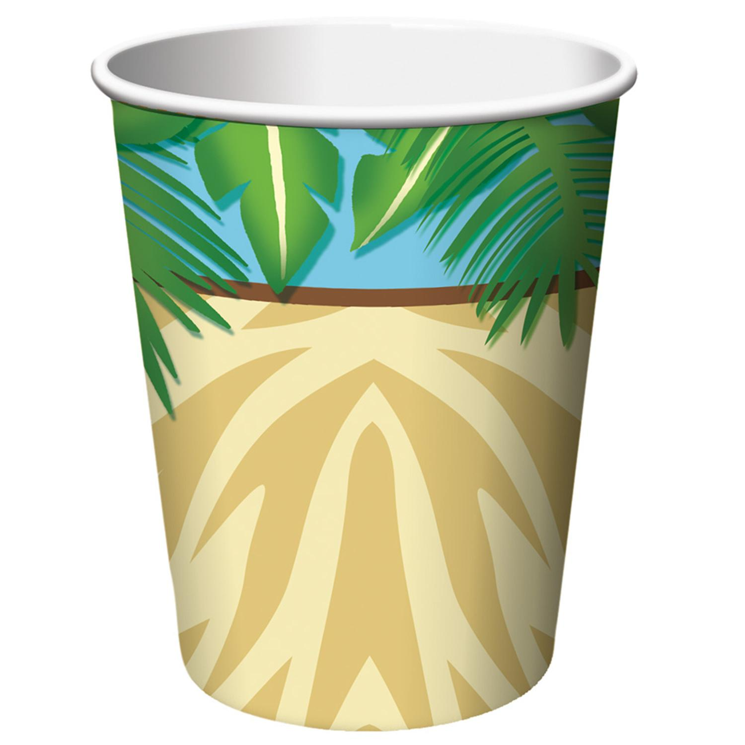 Club Pack of 96 Safari Adventure Disposable Paper Hot and Cold Drinking Party Cups 9 oz.