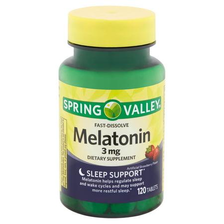 Spring Valley Fast-Dissolve Melatonin Tablets, 3 mg, 120 (Melatonin Sunglasses)