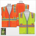 3asafety C2120-S Orange Surveyor Vest, Reflective Edging - Small