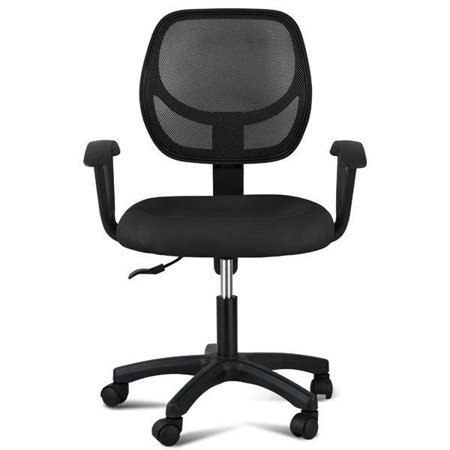 Yaheetech Adjule Swivel Computer Desk Chair Fabric Mesh Office With Arms Seating Back Rest