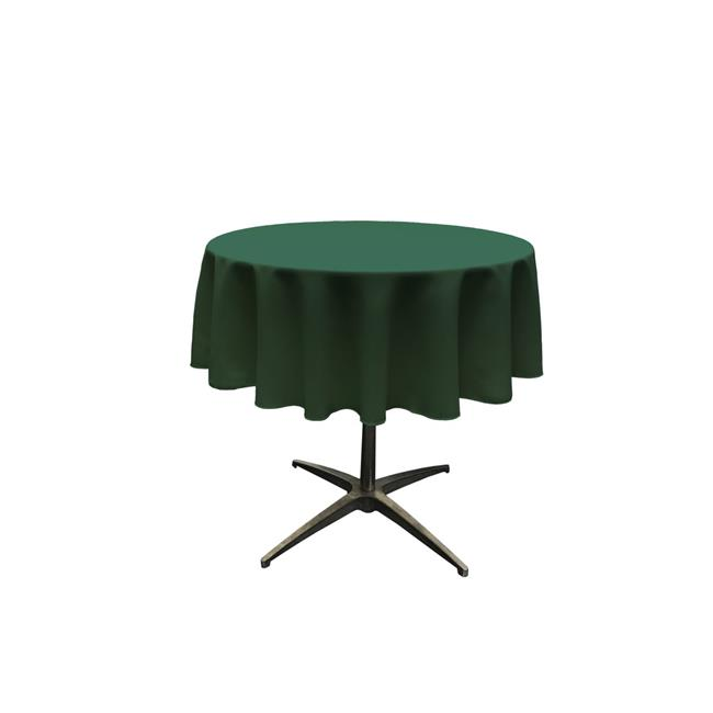 LA Linen TCpop51R-GreenHuP20 Polyester Poplin Tablecloth, Hunter Green - 51 in. Round - image 1 of 1