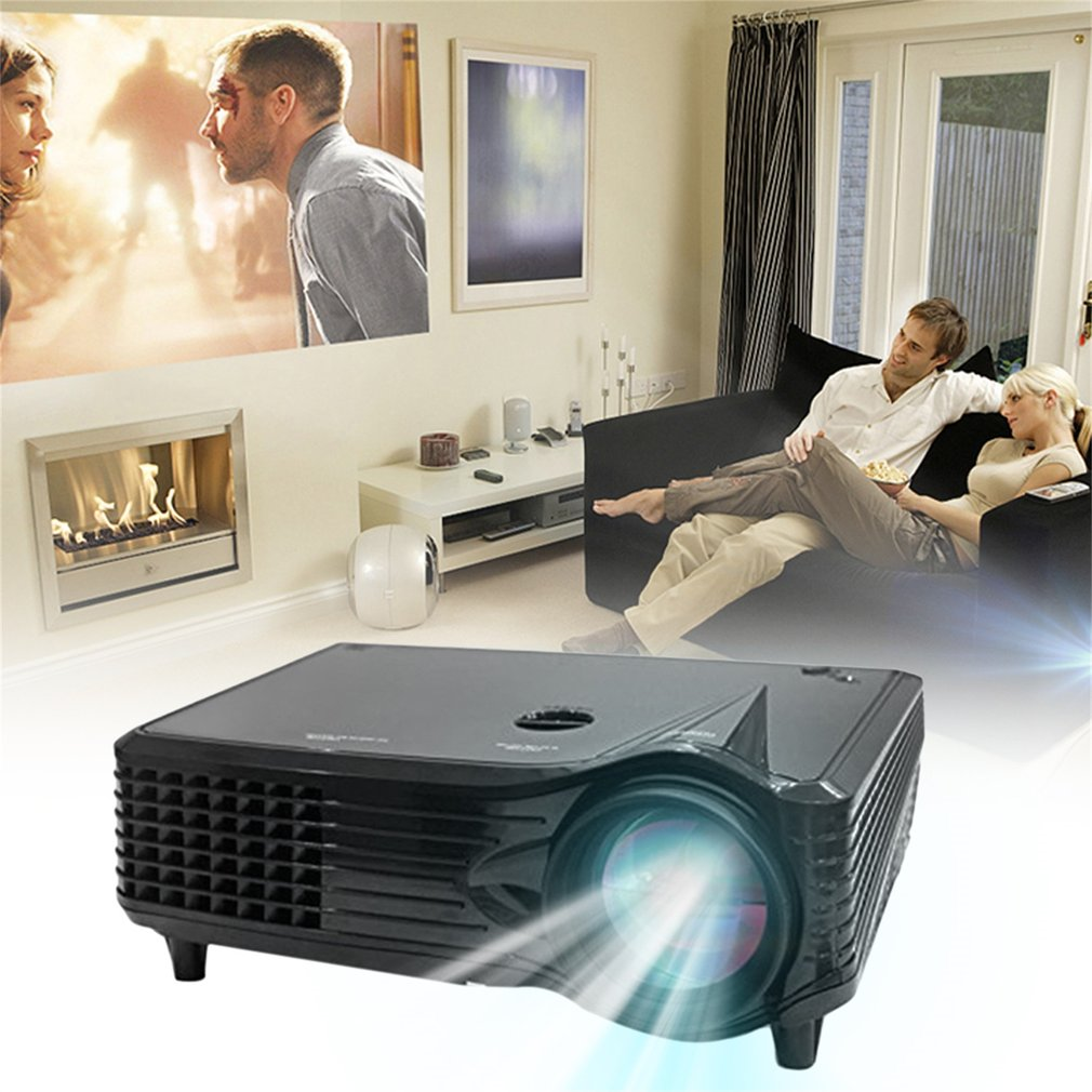 Home Projector, Entertainment Full HD 1080P LED LCD VGA HDMI TV Home Theater Projector Cinema at Home