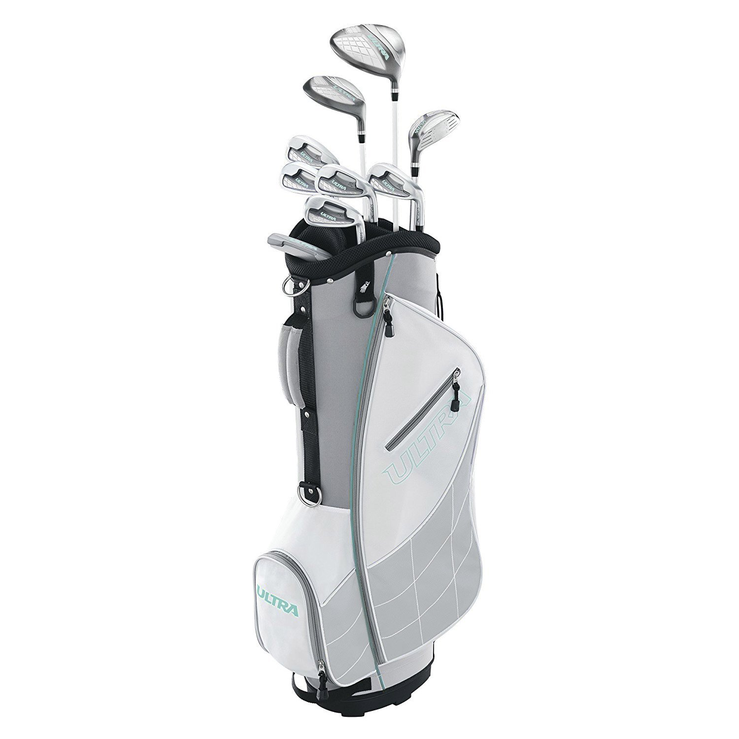 Wilson Ultra Womens Right Handed Complete Golf Club Set with Cart Bag, Gray Mint by Wilson