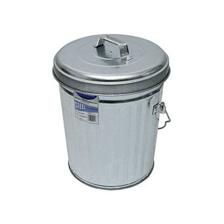 Inventive ITD1087 6 GALLON GALVANIZED STEEL TRASH CAN WITH LID. - Halloween Trailer Trash