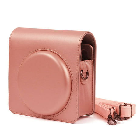 Epicgadget Fujifilm Instax Square SQ6 Instant Film Camera Case, Premium Soft PU Leather Bag Protective Case for instax square sq6 with Adjustable Shoulder Strap (Blush Gold)