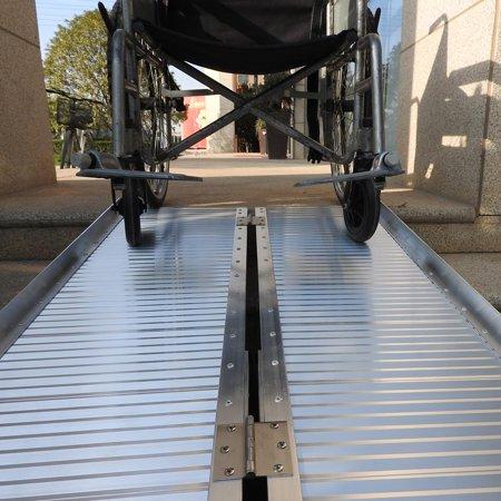Tri Fold Steel Ramp (Ktaxon 6' Folding Wheelchair Ramps Aluminum Threshold Mobility Ramp Handicap Scooter Wheelchair Walker )