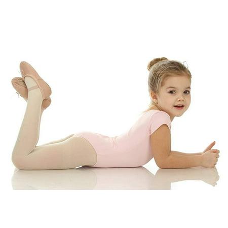 Elowel Girls' Team Basics Short Sleeve Leotard White (size-8-10 ) - image 2 of 4