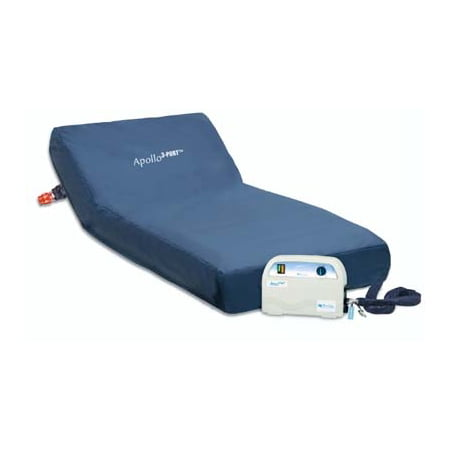 Apollo 3 Port Alternating Pressure Mattress System   35  X 80  X 8     Alternating Pressure Mattress With Side Rails   Model 4600 Srs