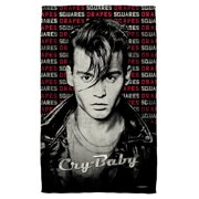 Cry Baby Drapes & Squares Beach Towel White 36X58