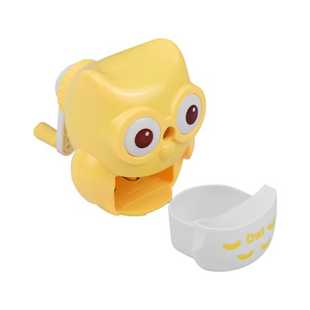 Safe Handheld Manual Pencil Sharpener Single-hole Sharpeners School Supplies for Pupils Kids Cute Owl Shape Yellow - Cute Pencil Sharpener