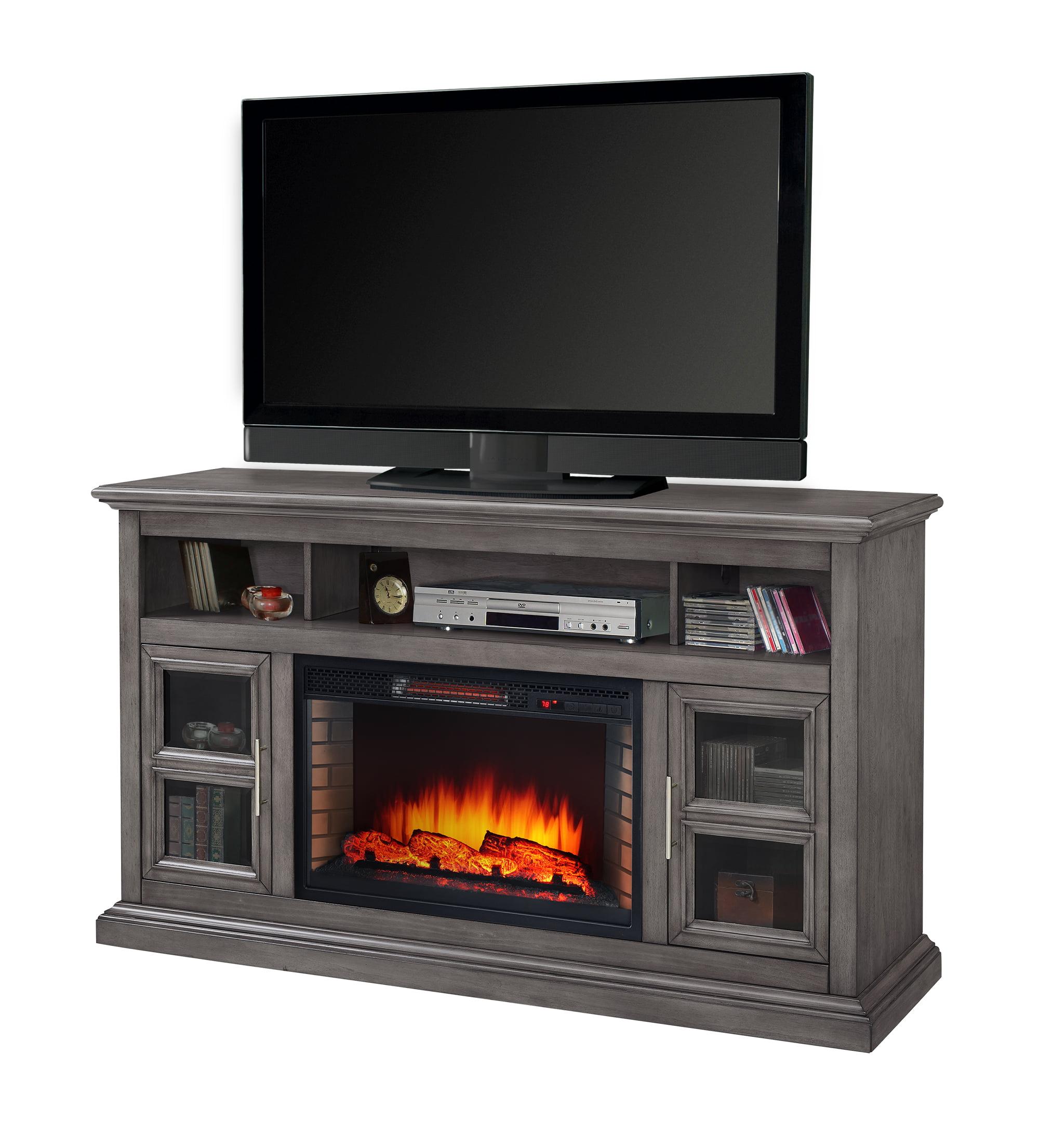 "Muskoka Glendale 58"" Media Electric Fireplace - Dark Weathered Grey"