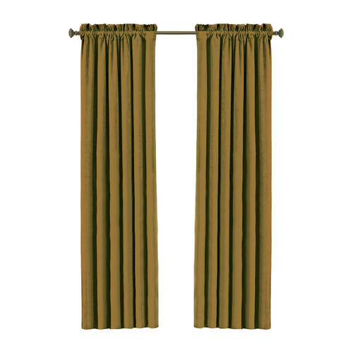 Eclipse Curtains Canova Rod Pocket Window Single Curtain Panel
