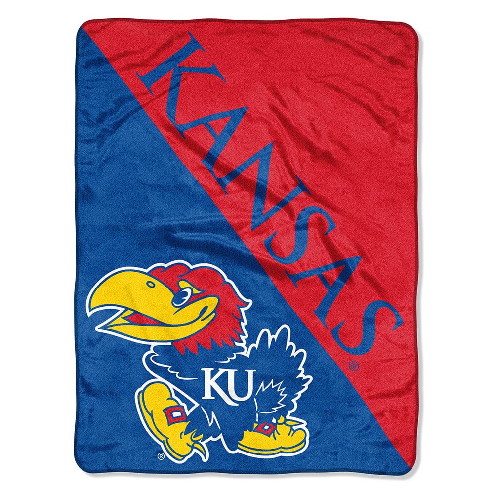 "NCAA Kansas Jayhawks ""Halftone"" 46""x 60"" Micro Raschel Throw"