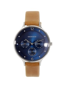 Skagen Women's Anita SKW2310 Blue Leather Quartz Watch