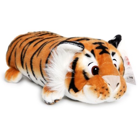 Terrence the Sleepy Tiger | 16 Inch Large Plush Pillow | Soft and Fluffy Cushion Stuffed Animal Pet | By Tiger Tale Toys Bengal Tiger Stuffed Animal