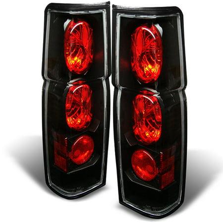 Fits 86-97 Hardbody D21 Pickup Truck Black Tail Brake Lights Lamp Left+Right Set (Hardbody Tail Lamps)